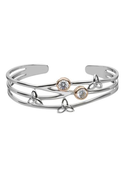 Sterling Silver Trinity Torc Bangle