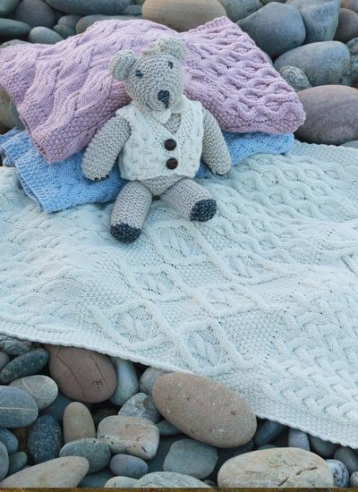Supersoft Merino Wool Baby Patchwork Wrap