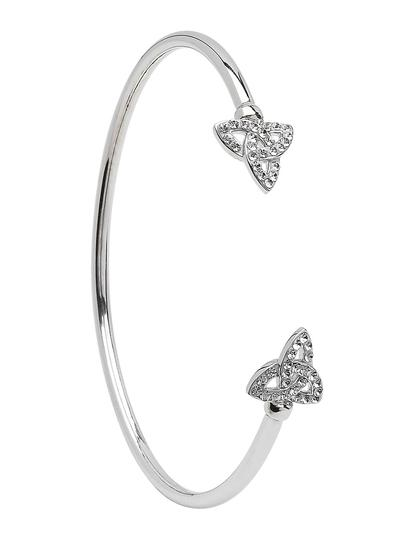 Sterling Silver Trinity Knot Swarovski Bangle
