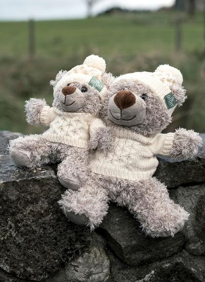 Teddy Bear With Aran Sweater & Hat