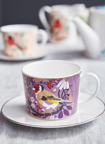 Birdy Set of 2 Goldfinch & Bullfinch Cappuccino Cups
