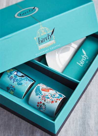 Birdy Set of 2 Robin & Blue Tit Espresso Cups