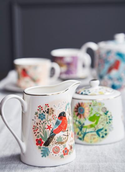 Birdy Greenfinch Sugar Bowl & Bullfinch Milk Jug Set