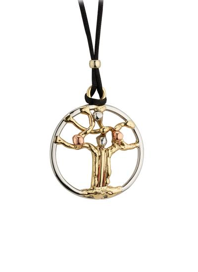 Tri Color Tree Of Life Pendant
