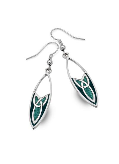 Trinity Knot Oval Drop Earrings