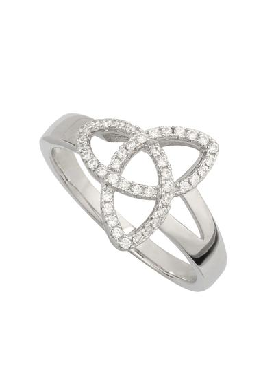 Trinity Ring With Cubic Zirconia Detail