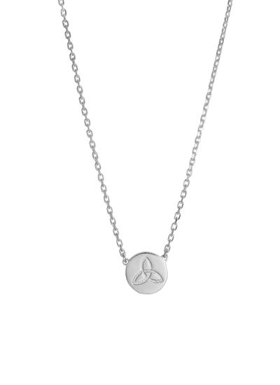 Sterling Silver Trinity Knot Disc Pendant