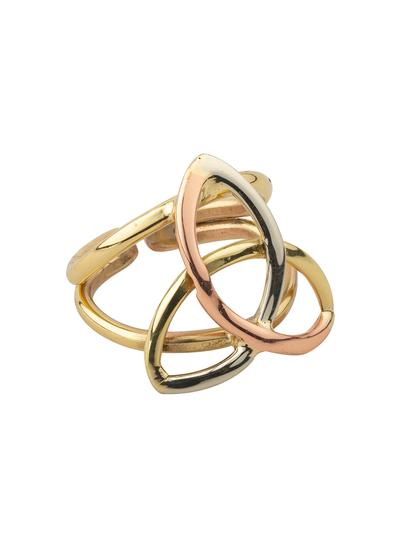 Trinity Knot Tri Color Ring