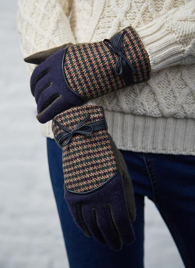 Two Tone Tweed Gloves