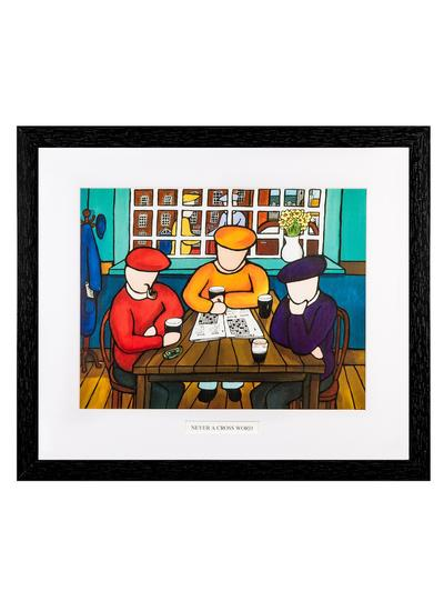 Never A Cross Word Framed Print