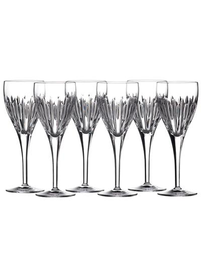 Waterford Crystal Ardan Mara Wine Glasses Set of 6