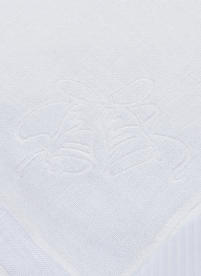 Wedding Bells Linen Handkerchief