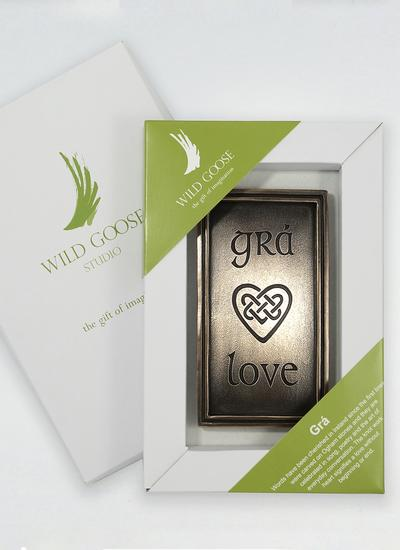 Gra - Love Bronze Wall Plaque