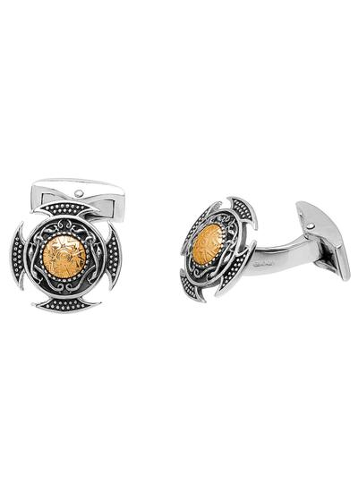 Wood Quay Cufflinks with 18K Gold Bead