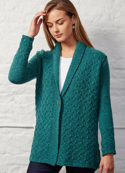 Wool Cashmere Adare Cable Cardigan