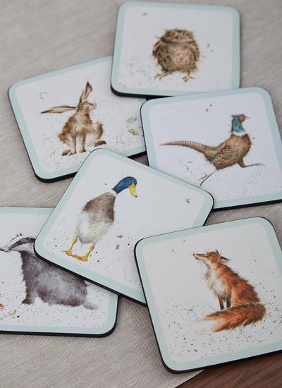 Wrendale Designs Mixed Coasters Set of 6