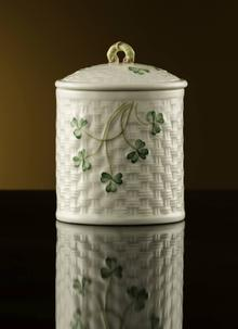Belleek Classic Shamrock Jar