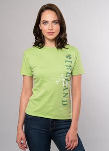 Ladies Ireland Side Print T-Shirt Green