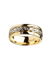ladies gold ring rings product celtic knot diamond wedding