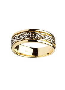 Gents 14K Gold Celtic Knot Wedding Ring