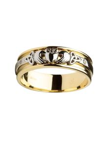 Gents 14K Gold Claddagh Wedding Ring