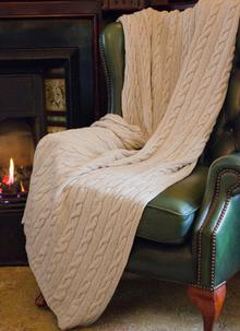 Fisherman Out of Ireland Wool-Cashmere Throw