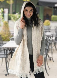 Aran Hooded Wrap