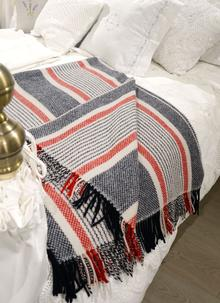 Wool Cashmere Throw Striped