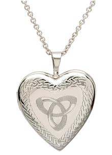 Trinity Knot Heart Locket