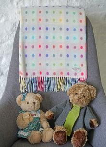 Polka Dot Baby Lambswool Wrap