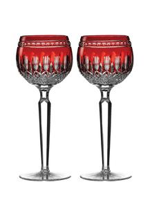 Waterford Crystal Clarendon Ruby Hock Pair