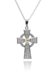 Sterling Silver Warrior Shield Cross