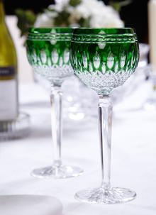 Waterford Crystal Clarendon Emerald Hock Pair