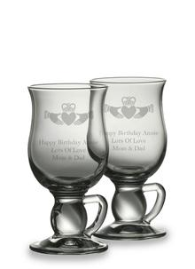 Galway Crystal Irish Coffee Glasses Personalized (Pair)
