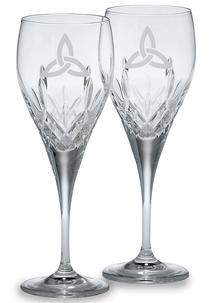 Galway Crystal Trinity Knot Goblets (Pair)