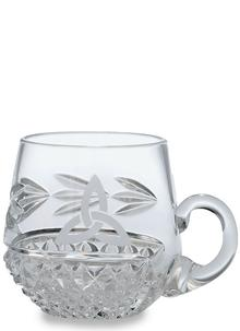 Galway Crystal Trinity Knot Christening Mug ...