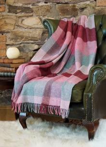 Pink Heritage Lambswool Throw
