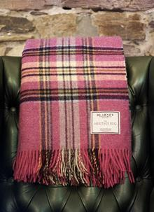 Pink Stripe Heritage Lambswool Throw