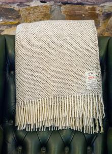 Neutral Heavy Donegal Wool Throw