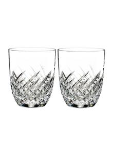 Waterford Crystal Essentially Wave Double Old Fashioned Pair