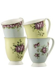 Archive Rose Mugs Set of 4