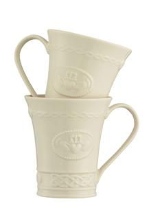 Belleek Claddagh Mugs Set of 2