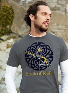 Men's Book of Kells Grey Lioness T-Shirt
