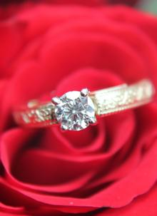 Ladies 14K White Gold Diamond Trinity Knot Engagement Ring