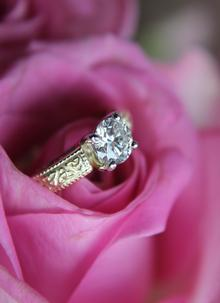 Ladies 14K Gold Diamond Trinity Knot Engagement Ring