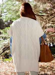Aoife Shawl Collar Aran Cape