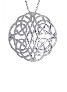 Sterling Silver Large Celtic Pendant