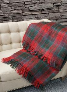 Blarney Mohair Throw Wicklow Check