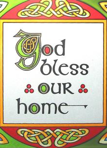 God Bless Our Home Suncatcher