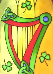 Irish Harp Gothic Suncatcher